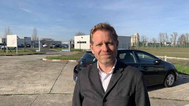 Le maire EELV de Bègles, Clément Rossignol-Puech. (ALEXANDRE BARLOT / RADIO FRANCE)