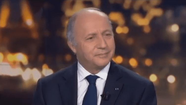 Laurent Fabius sur le plateau du 20h de France 2, le 15 mai 2012. (FTVI)