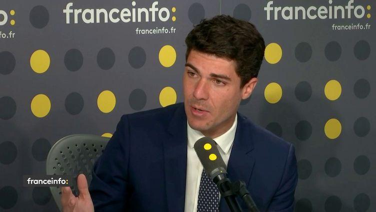 Aurélien Pradié, député Les Républicains du Lot sur franceinfo le 4 juin 2019. (FRANCEINFO)