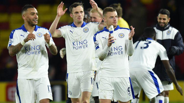 La joie pour les joueurs de Leicester (OLLY GREENWOOD / AFP)