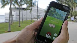 Exeggcute, un Pokemon, est trouvé par un joueur de Pokemon Go à Miami.  (Alan Diaz/AP/SIPA)
