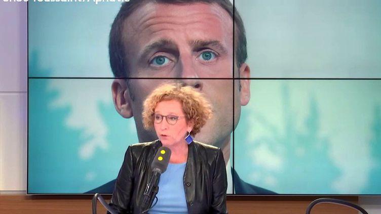 Muriel Pénicaud, ministre du Travail, invitée de franceinfo le 13 juin 2018. (RADIO FRANCE / FRANCE INFO)