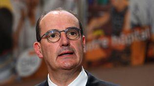 Jean Castex, le 11 aout 2020, à Montpellier. (PASCAL GUYOT / AFP)