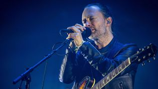 Thom Yorke, leader de Radiohead, sur scène avec son groupe le 3 juin 2016 à Barcelone  (Hell Gate / Media / Shutter / Sipa)