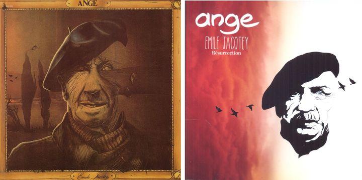 Les deux versions de l'album Emile Jacotey : l'originale de 1975, et la revisitée de 2014 (PHILIPS)