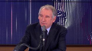 """François Bayrou, leprésident du MoDem et Haut-Commissaire au Plan, était l'invité du """"8h30franceinfo"""", jeudi 26 novembre 2020. (FRANCEINFO / RADIOFRANCE)"""