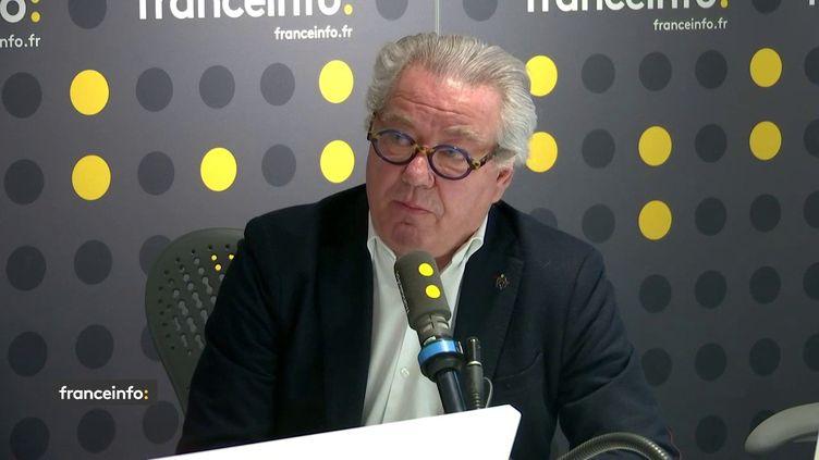 DidierChenet, le président du Groupement national des indépendants (GNI) de l'hôtellerie-restauration, était l'invité de franceinfo mardi 3 mars. (FRANCEINFO / RADIOFRANCE)
