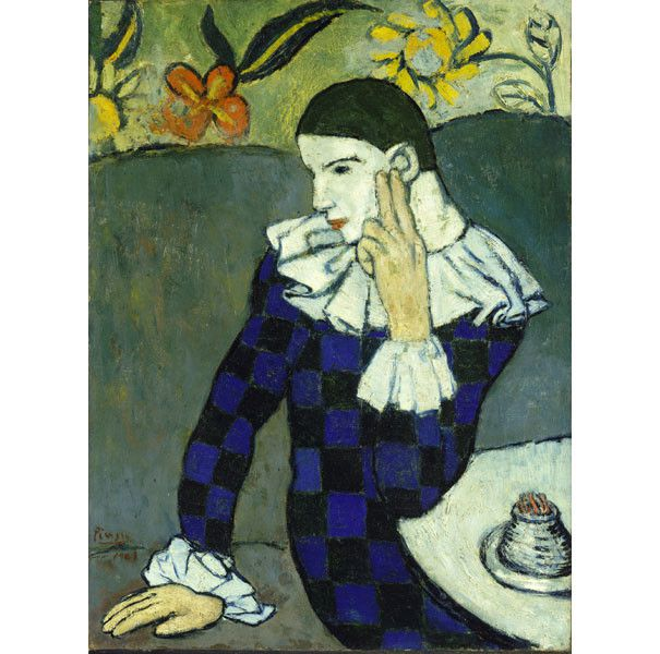 "Pablo Picasso, ""Arlequin assis"", 1901, New York, The Metropolitan Museum of Art  (Photo © The Metropolitan Museum of Art, Dist. RMN-Grand Palais / image of the MMA © Succession Picasso 2018)"