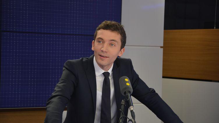 Julien Sanchez, porte-parole du FN, maire de Beaucaire. (JEAN-CHRISTOPHE BOURDILLAT / RADIO FRANCE)