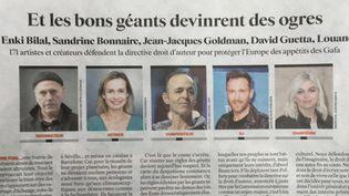 Dans une tribune du JDD,171 artistes français défendent la réforme du droit d'auteur  (JDD)