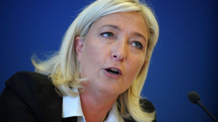 La présidente du Front national, Marine Le Pen, au siège de son parti, le 14 septembre 2012. (ANTOINE ANTONIOL / SIPA)