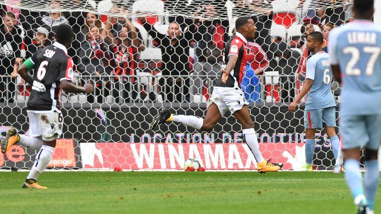 Pléa (Nice) a retrouvé le sens du but face à Monaco (YANN COATSALIOU / AFP)
