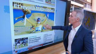 Revue de presse : la victoire d'Alaphilippe, l'Olympique lyonnais, la rentrée scolaire... à la Une des journaux régionaux du 31 août (CAPTURE ECRAN FRANCE 2)