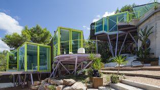 """La """"Casa en never neverland"""" de Andrès Jaque / office for Political Innovation, à Cala Vadella, Ibiza, Espagne, 2009. (MIGUEL DE GUZMAN)"""