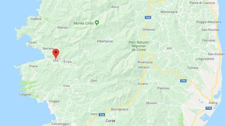 La commune d'Ota dans l'ouest de la Corse. (GOOGLE MAPS)