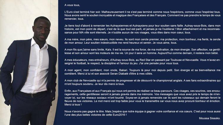 La lettre de Moussa Sissoko