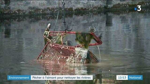 Environnement : la pêche à l'aimant utilisée pour assainir les rivières