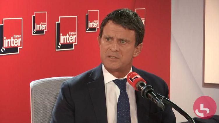 Manuel Valls, mardi 29 octobre, sur France Inter. (FRANCEINTER)