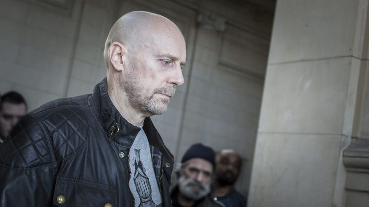 Alain Soral lors de l'un des ses procès au mois de mars 2012. (XAVIER DE TORRES/MAXPPP / MAXPPP)