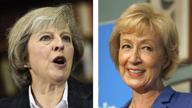 (Theresa May et Andrea Leadsom sont les deux dernières en lice pour remplacer David Cameron © Reuters)
