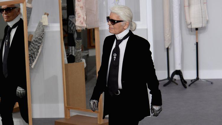 Karl Lagerfeld au show Chanel haute couture automne-hiver 2016-17, à Paris  (GettyImages)