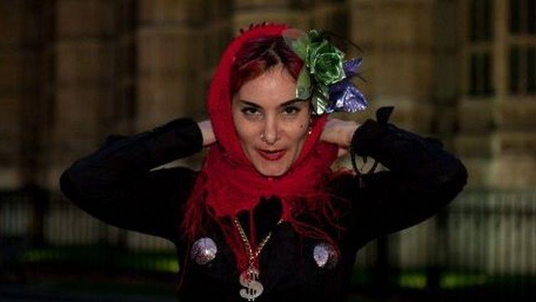 Manifestation de prostituées pour la légalisation de leur activité à Londres, le 13 octobre 2011. (AFP/Citizenside/Martyn Wheatly)