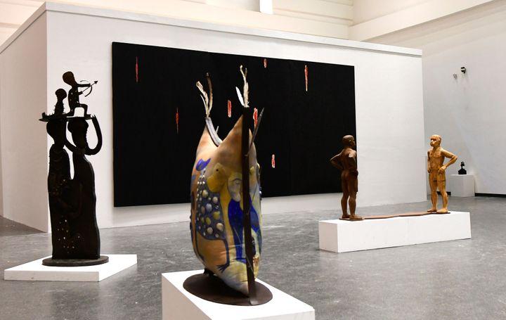 Une salle du nouveau Musée des civilisations noires de Dakar, inauguré le 6 décembre 2018