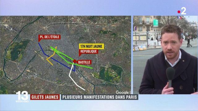 """""""Gilets jaunes"""" : des manifestations inédites dans Paris pour l'""""acte 11"""""""