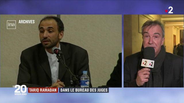 Tariq Ramadan dans le bureau des juges