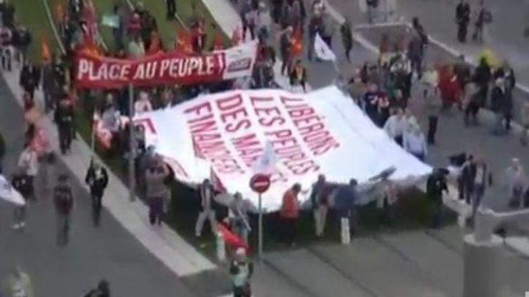 Marche à Nice contre le G20 de Cannes jeudi (APTN)