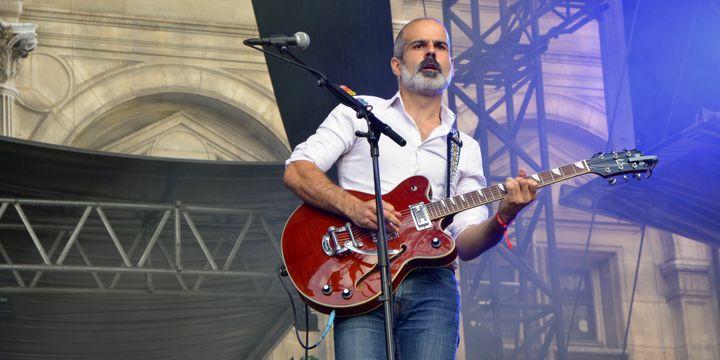 Raoul Tellier, de la Maison Tellier, au Fnac Live Festival (Paris).  (Adrien Morcuende / Culturebox)