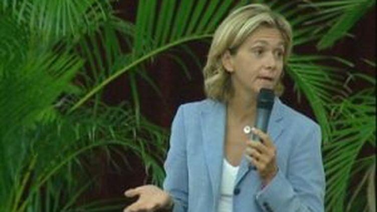 Valérie Pécresse lors du lancement de sa campagne pour les primaires UMP en vue des régionales en Ile-de-France. (france 3 pic)