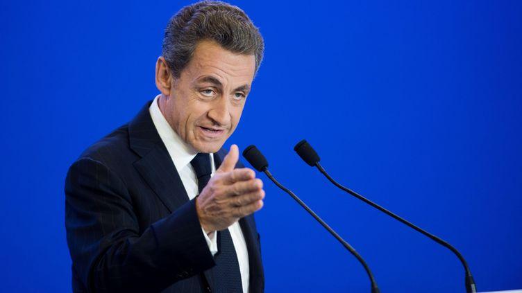 Le président des Républicains, Nicolas Sarkozy, au siège du parti, à Paris, le 3 novembre 2015. (CHAMUSSY / SIPA)