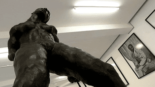 """""""La Danseuse aux cheveux courts"""" Bronze d'Ousman Sow  (France 3 - Culturebox)"""