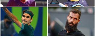 Rafael Nadal, Gaël Monfils, Roger Federer et Benoît Paire ont tous profité du gel des classements. (AFP)