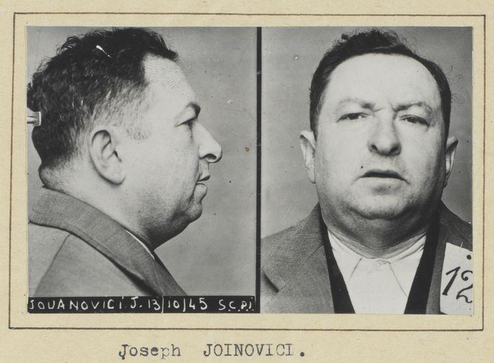 Photographie anthropométrique de Joseph Joinovici(détail)  (Archives nationales / Alain Berry)