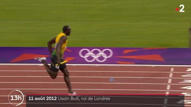 Usain Bolt à Londres en 2012. (FRANCE 2)