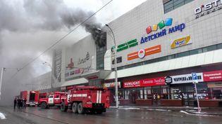 Au moins 37 personnes ont péri le 25 mars 2018 en Russie dans l'incendie qui a ravagé un centre commercial fréquenté à Kemerovo, ville industrielle en Sibérie occidentale. (HO / RUSSIAN EMERGENCY SITUATIONS MIN)