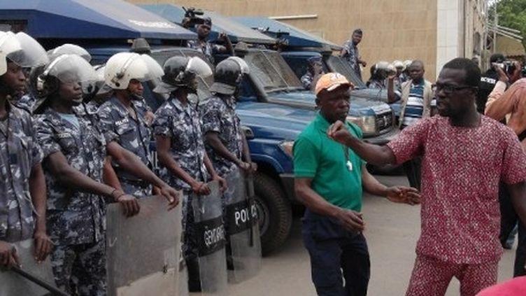 Manifestation à Lomé le 11 août 2012. (AFP/Emile Kouton)