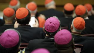 Des participants au synode, le 6 octobre 2014 au Vatican. (MAX ROSSI / REUTERS)