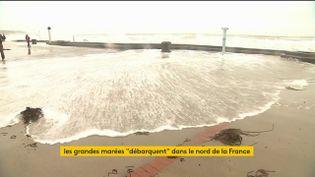 Une grande marée dans le Pas-de-Calais (FRANCEINFO)