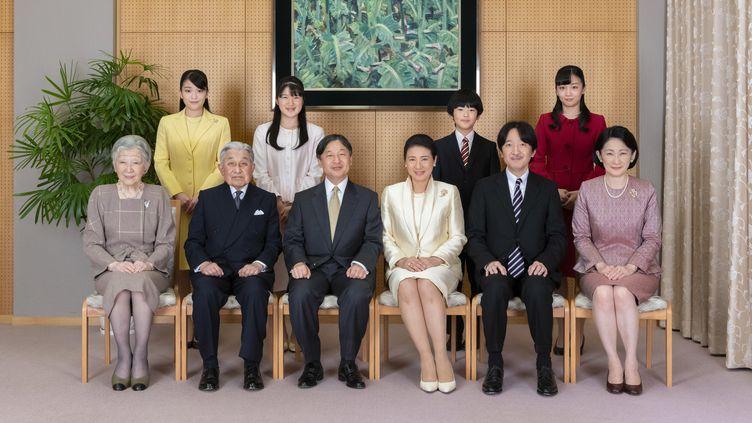 Photo des membres de la famille impériale prise le 12 décembre 2019.  (HANDOUT / IMPERIAL HOUSEHOLD AGENCY)