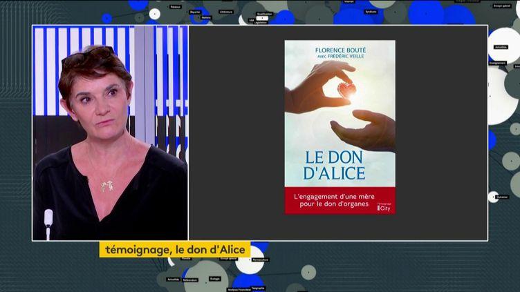 Florence Bouté et son livre (FRANCEINFO)