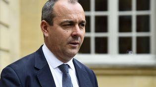 Le leader de la CFDT, Laurent Berger, à l'hôtel de Matignon à Paris, le 25 juillet 2017. (BERTRAND GUAY / AFP)