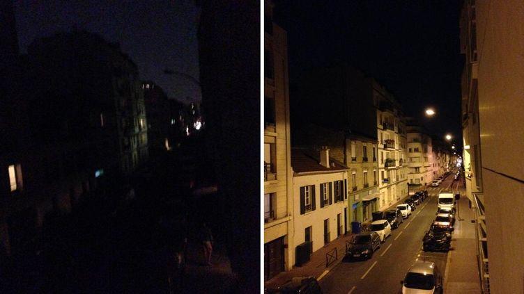 Des habitants de Levallois-Perret (Hauts-de-Seine) ont signalé une coupure de l'éclairage public, jeudi 4 juin, alors qu'un documentaire sur les pratiques immobilières de Patrick et Isabelle Balkany était diffusé sur France 2. (M. DOLIGE / DR)