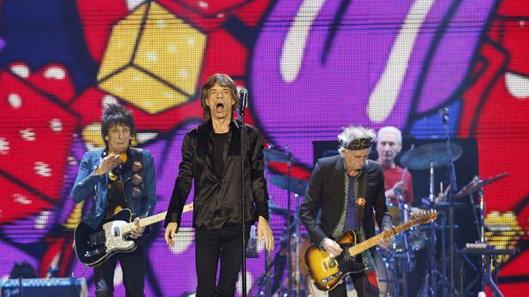 Les Rolling Stones au Tokyo Dôme (Japon) le 26 février 2014.  (Shizuo Kambayashi/AP/SIPA)