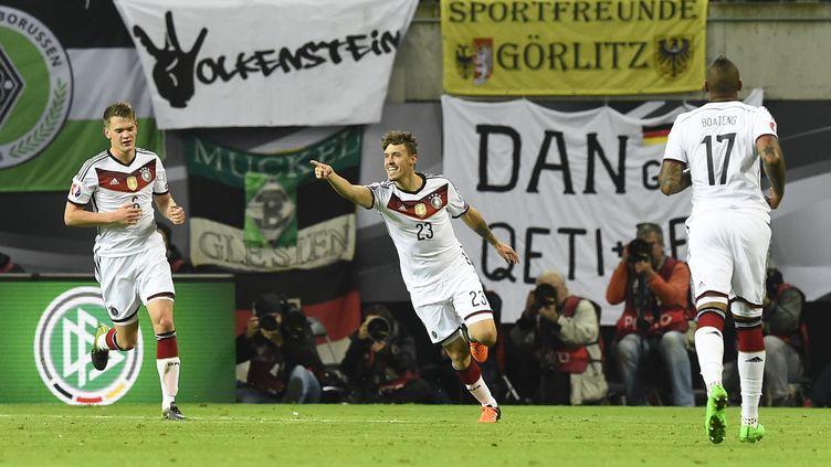 Max Kruse marque le but vainqueur de l'Allemagne face à la Géorgie (TOBIAS SCHWARZ / AFP)