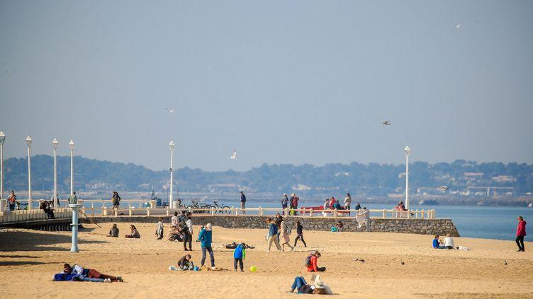 La plage d'Arcachon (Gironde), le 22 février 2019. (MAXPPP)