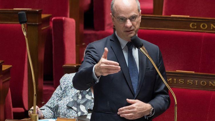 Le ministre de l'Education nationale, Jean-Michel Blanquer, le 21 avril 2020. (JACQUES WITT / AFP)