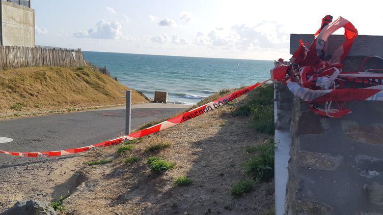 Agon-Coutainville (Manche), après le naufrage d'une vedette à moteur, le 12 août 2019, dans lequel trois enfants ont perdu la vie (LUCIE THUILLET / RADIO FRANCE)
